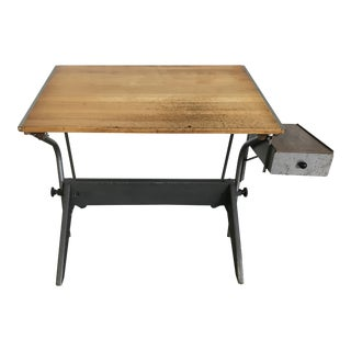 1950s Mid Century Industrial Drafting Table