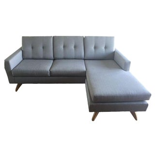 Modern Blue-Gray Sectional Sofa