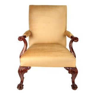 George II Style Carved Mahogany Chair