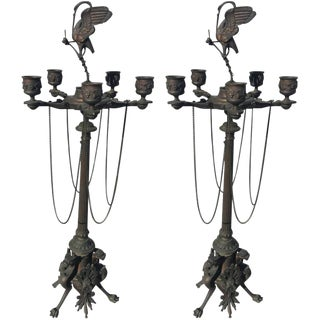 Bronze Candelabra Neoclassical Style