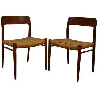 Niels Møller Teak #75 Side Chairs - A Pair