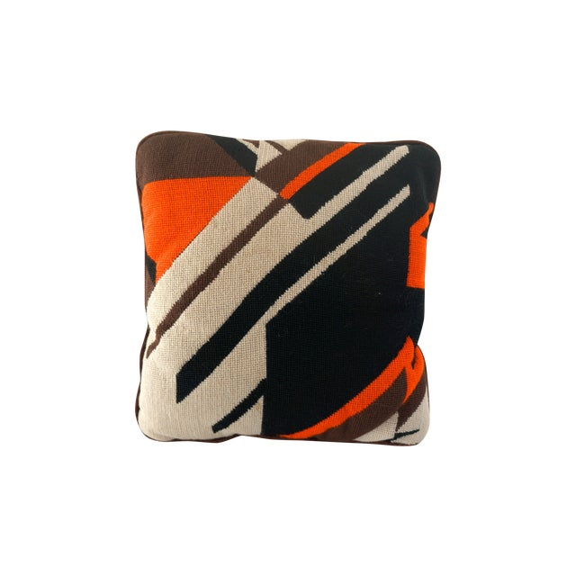 Abstract Needle Point Pillow - Image 1 of 5