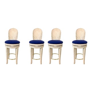 Set of 4 Shell Back Swivel Barstools