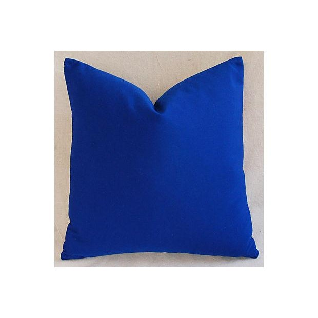 Image of Custom Hand-Embroidered Blue & White Otomi Pillow