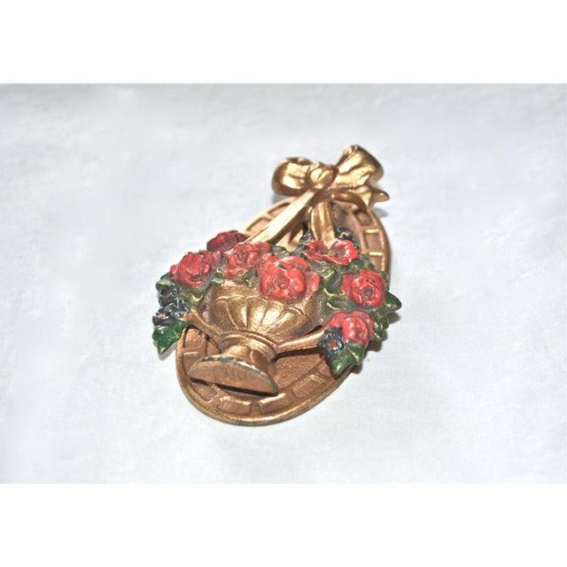 Hubley Flower Basket Door Knocker - Image 4 of 8