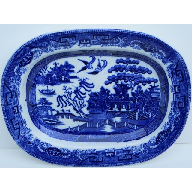 Flow Blue Platter - Image 3 of 6