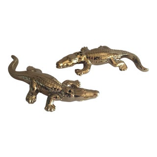 Gold Metallic Reptile Salt & Pepper - Pair