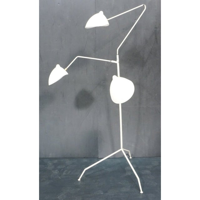 Serge mouille style 3 arm floor lamp chairish Serge mouille three arm floor lamp