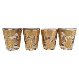 Gilt Culver Shot Glasses - Set of 4