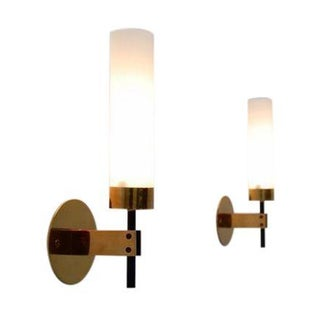 Pair of Stilnovo Cylindrical Sconces