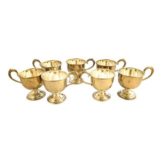 Vintage Silver Plate Coffee Cups - Set of 6