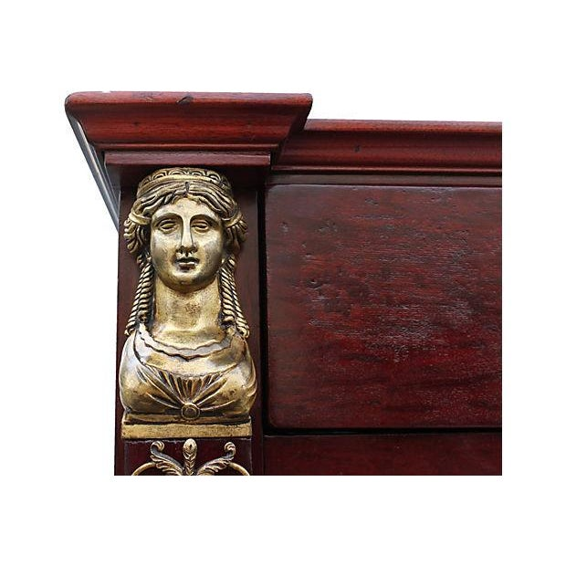 Neoclassical 1920s Red Armoire - Image 5 of 7