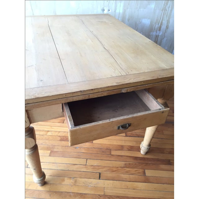 Rustic Italian Antique Dining Table - Image 9 of 9