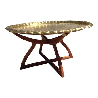 Brass Tray Spider Table