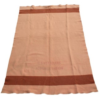 Vintage U.S. Veterans Administration Wool Blanket