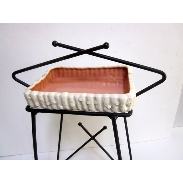 Mid-Century Modern Hairpin Atomic Ashtray Stand - Image 3 of 6