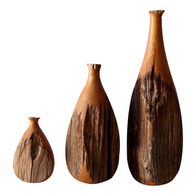 Mid-Century Live Edge Vase - Set of 3 - Image 1 of 9