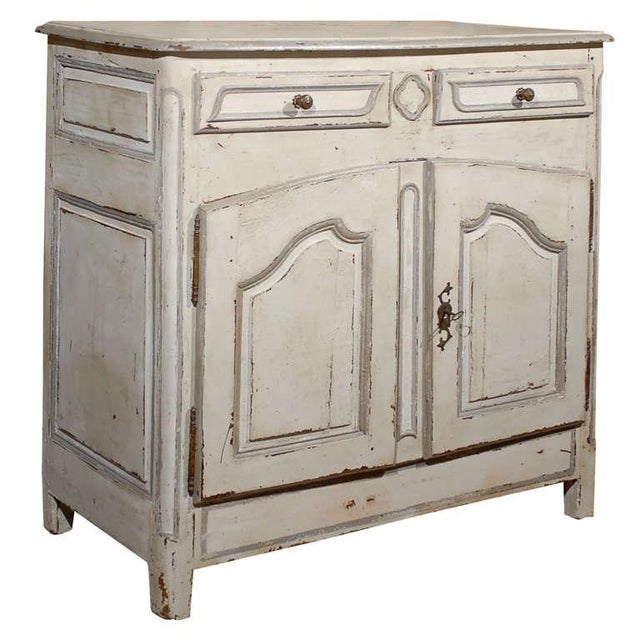 Antique French Painted White Buffet Credenza