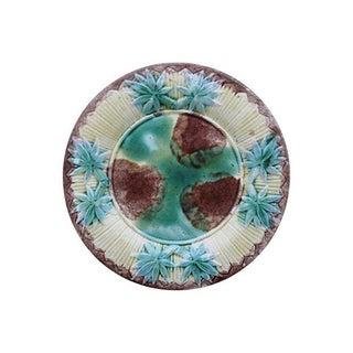 Etruscan Majolica Bamboo Leaf Plate