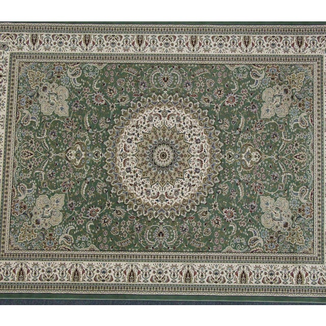 Traditional Medallion Green Rug - 5′3″ × 7′4″ - Image 3 of 8