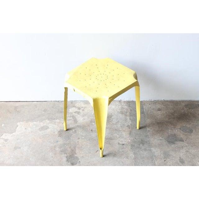 Yellow Metal Side Table - Image 3 of 4