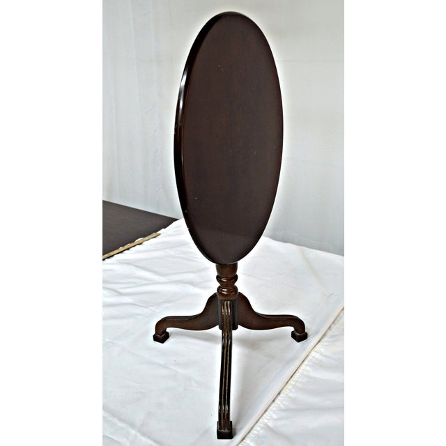 Oval Auxiliary Tilt Top Table - Image 8 of 10