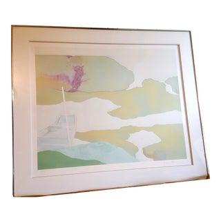 "Kenzo Okada ""Boat"" Watercolor Screen Print"