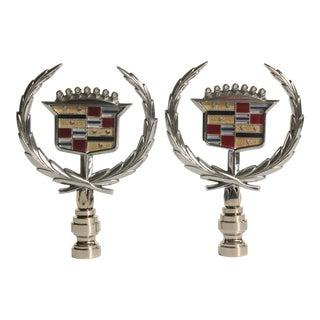 Cadillac Hood Ornament Lamp Finials - Pair