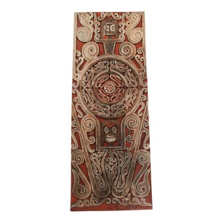Asmat Tribal Carved Door Panel