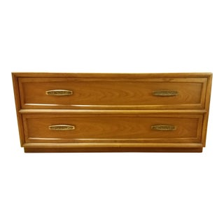 1970s Brutalist Drexel Heritage Two-Drawer Chest