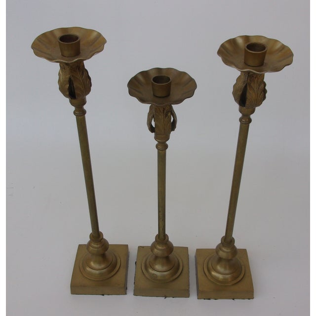 Vintage Brass Candle Holders 106