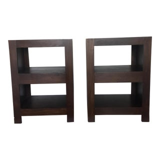 Contemporary Wooden Nightstands - A Pair