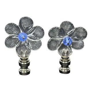 Vintage Venetian Flower Finials - A Pair