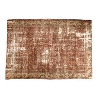 """Antique Distressed Mahal Carpet - 9' x 11'6"""""""