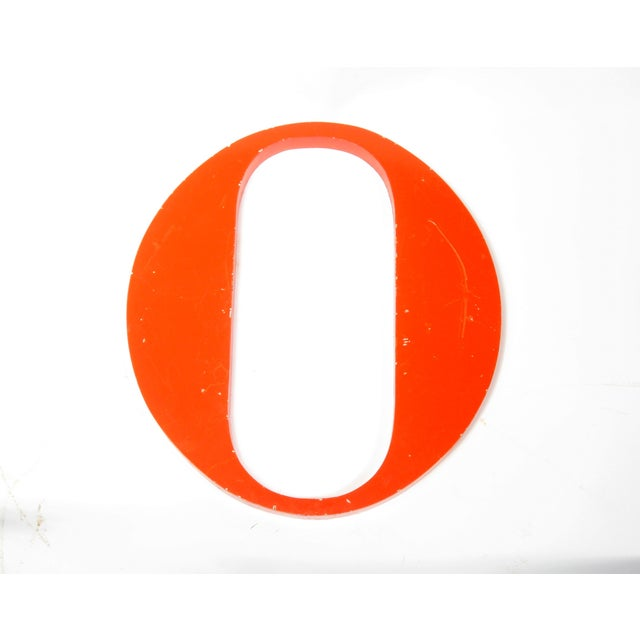 "Image of Steel Orange ""O"" Letter"