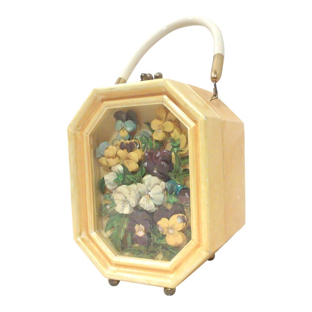 Bakelite Flora Box Purse - Image 1 of 7