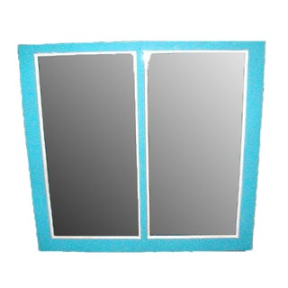 Circa 1900 Blue Florida Cracker House Mirror