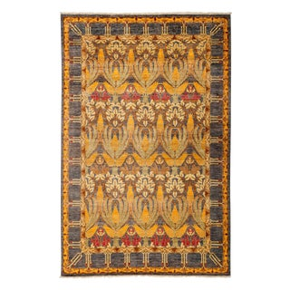 "Arts & Crafts, Hand Knotted Area Rug - 5'10"" X 9'2"""