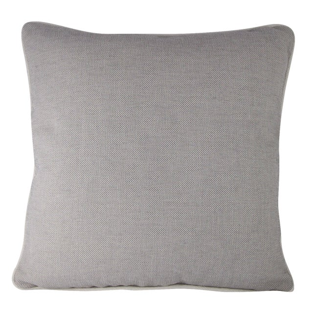 Grey & White Linen Textured Pillow - Image 1 of 4