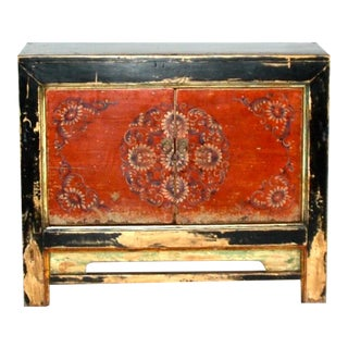 Antique Painted Mongolian Cabinet