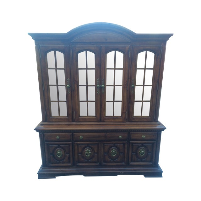 Image of Burlington House Solid Wood Buffet with Hutch