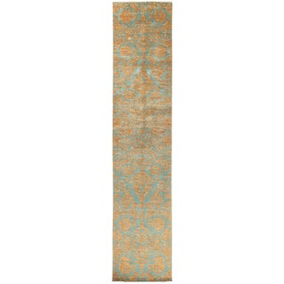 """Suzani Hand Knotted Runner - 2'7"""" X 12'10"""""""