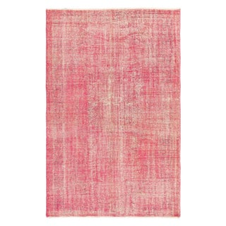 "Turkish Overdyed Pink Rug - 6'1"" x 9'6"""