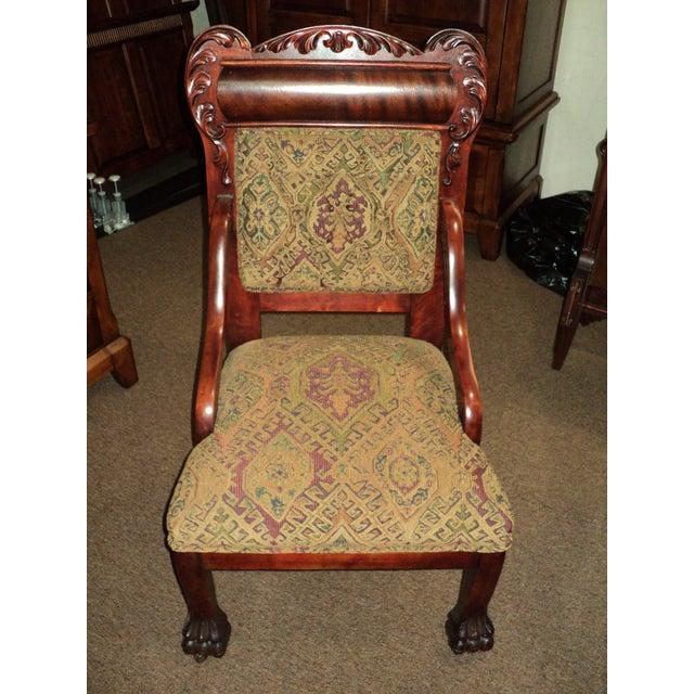 Antique Mahogany Platform Rocking Chair + 2 Side Chairs - Set of 3 - Image 5 - Antique Mahogany Platform Rocking Chair + 2 Side Chairs - Set Of 3