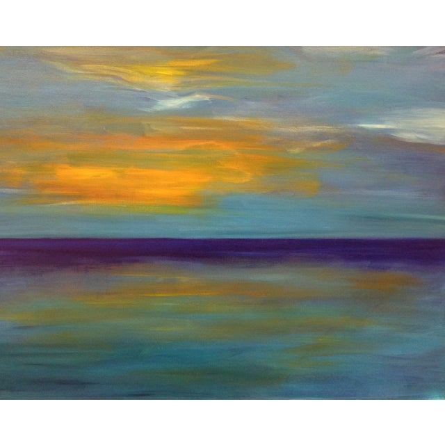 Purple Sunset Painting - Image 1 of 2
