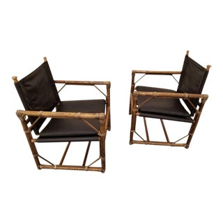Eleanor Forbes Leather Lounge Chairs - Set of 2