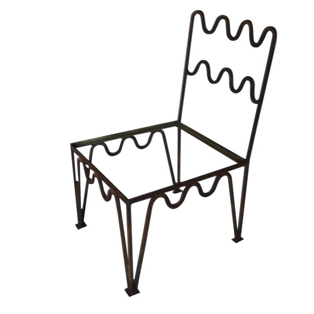 1940s Sculptural Modernist Iron Patio Chairs - 4 - Image 1 of 11