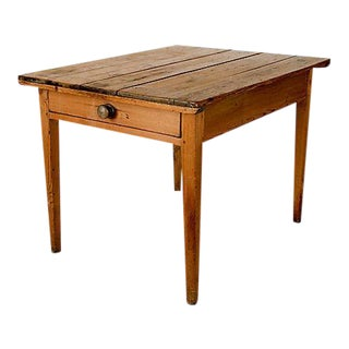 Single Drawer Farm Table