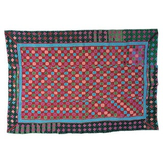 Antique Hand Woven Hill Tribe Marriage Quilt