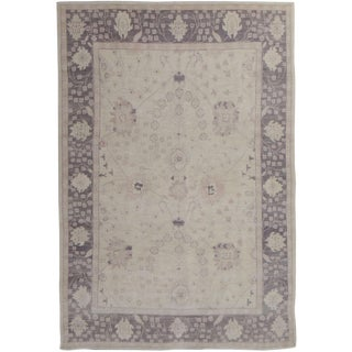 Hand Knotted Fine Oushak Rug - 8′10″ × 12′4″